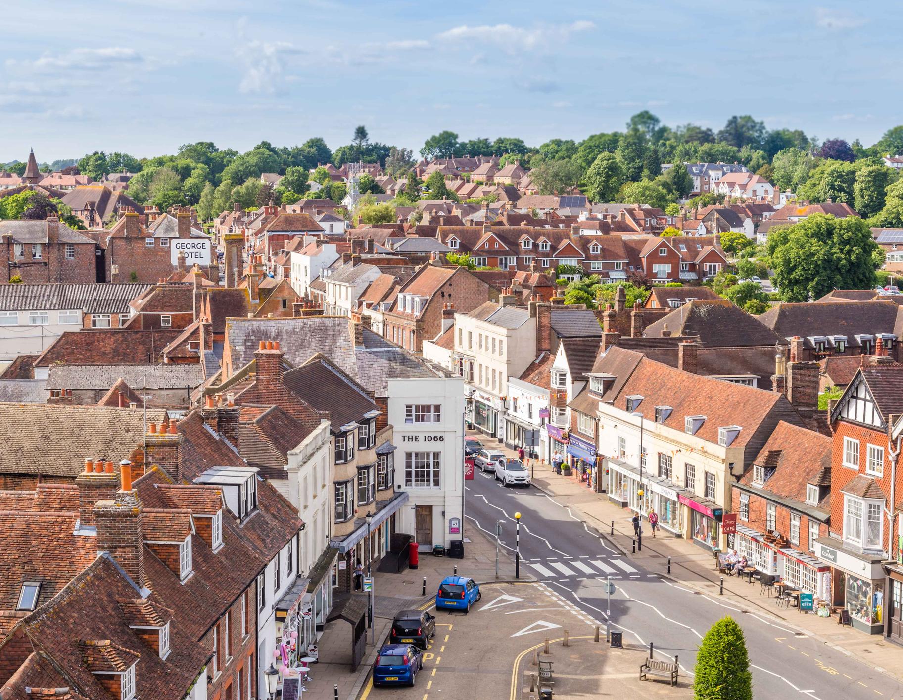 Battle, Sussex, UK - June, 03, 2017: City scape of Batte in Sussex, UK
