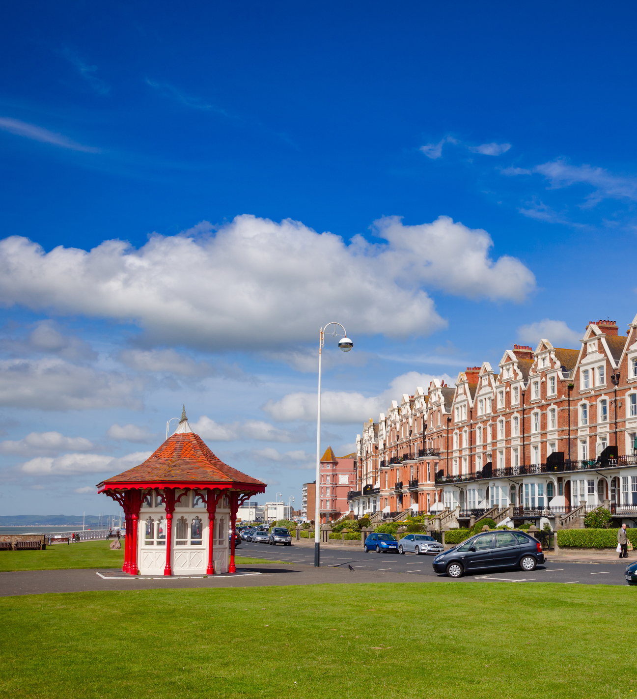 Victorian seafront shelter in Bexhill East Sussex South East England UK